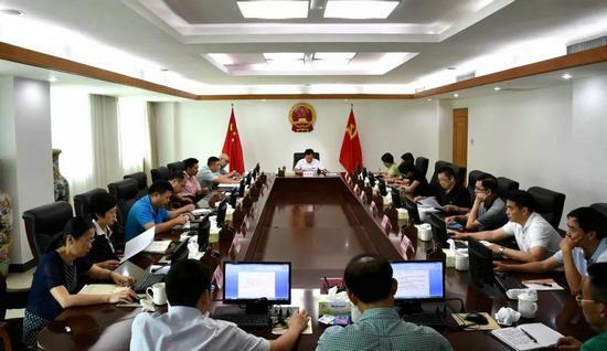 省检察院传达学习中央扫黑除恶第18督导组与海南省委第三次工作对接会精神