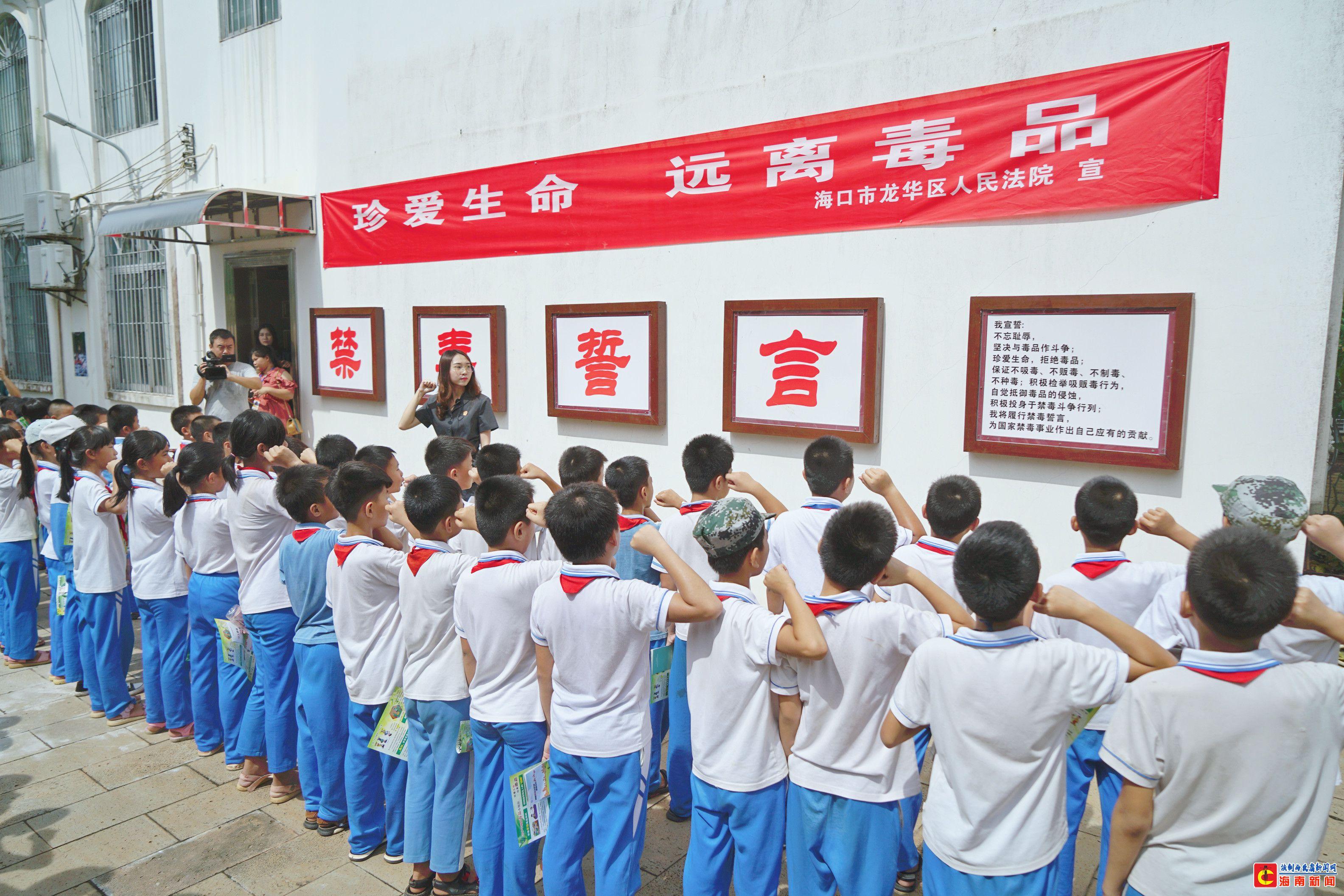 龙华区法院举办分开放日 开展青少年禁毒宣教活动