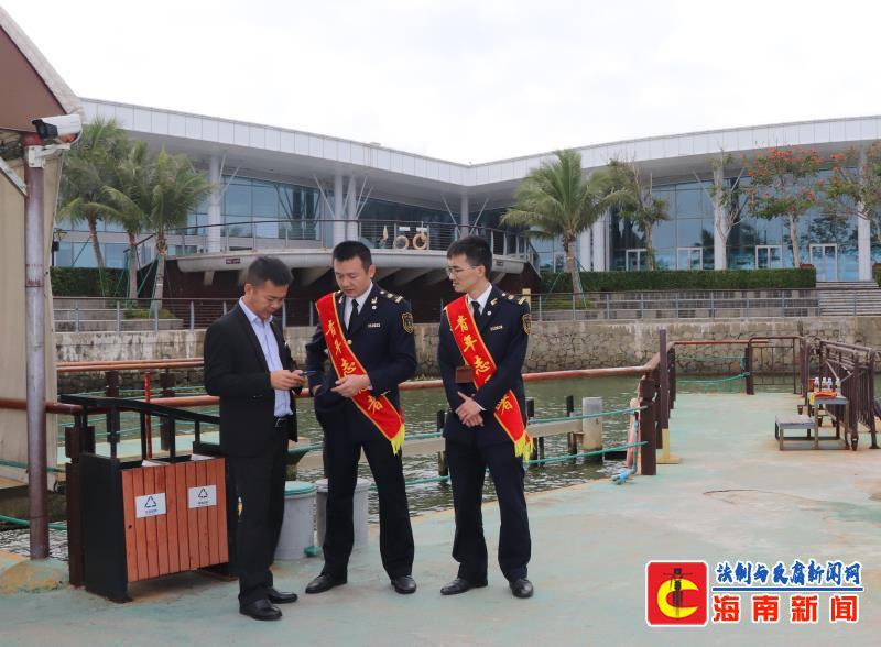 清澜海事局全力保障博鳌 旅游水上客运安全